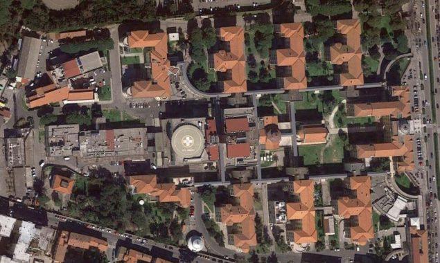L'ospedale di Livorno dal satellite. © Google Maps